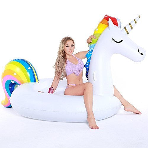 NAKORNO Inflatable Unicorn Pool Float