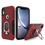 UNC Pro 2 in 1 Cell Phone Case with Bottle Opener Kickstand for iPhone XR, TPU Hybrid Shockproof Bumper Anti-Scratch Dual Layer Case, Red