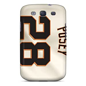Shock Absorbent Cell-phone Hard Covers For Samsung Galaxy S3 With Allow Personal Design Attractive San Francisco Giants Image CharlesPoirier