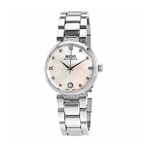 Automatic Mop Dial - Mido Baroncelli II Donna Automatic MOP Diamond Dial Womens Watch M0222076111611