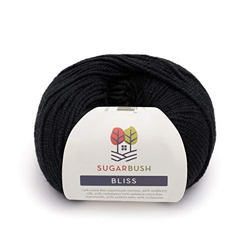 (Sugar Bush Yarn Bliss Light Weight - Merino Wool -  Midnight)