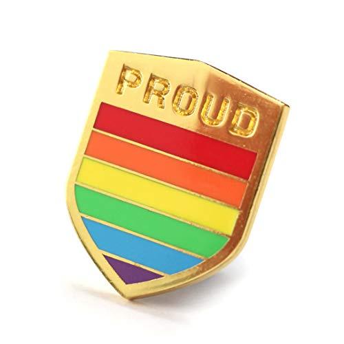 Pride Pin LGBTQ Badge Flag Gold Plated Enamel Pin Proud Gay Community