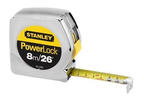 "076174334289 - Stanley 33-428 8m/26' x 1"" PowerLock Tape Rule (cm Graduation) carousel main 0"