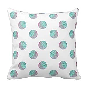 Pillowcases Pale green round mark 18x18(inches)