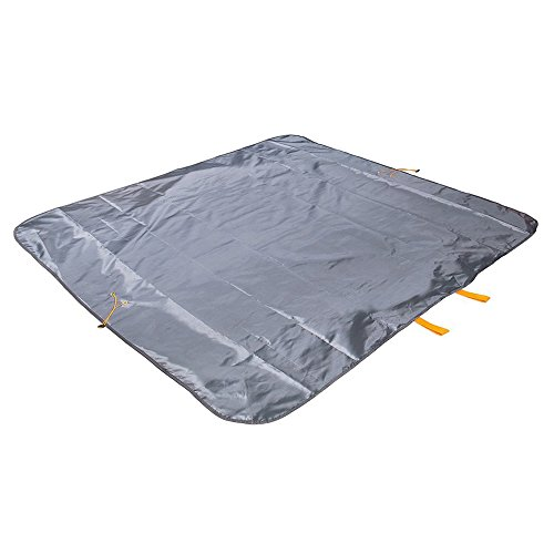 Sysmarts Picnic Blanket, Outdoor Waterproof Picnic Mat Multifunctional Foldable Lightweight Large Bag for Outdoor,Travel,Mountaineering,Beach,Camping 57'' x 57'' (Grey) by Sysmarts