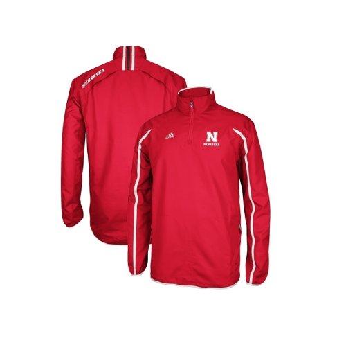 (adidas Nebraska Cornhuskers Youth Red Sideline Hot Full-Zip Jacket (10/12))