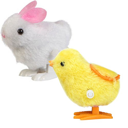 Little Story  Dolls, New Infant Child Toys Hopping Wind Up Easter Chick and Bunny