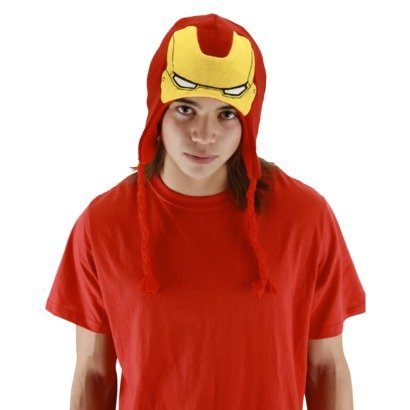 elope Marvel Men's Iron Man Laplander Hat, Red/Yellow, One - Hats Ironman