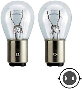 58062 Lampadine Set Lampada Ricambio 21w 5w Bay15d 12v Zweifadenlampe Luce Freno Fanale Posteriore Amazon It Auto E Moto