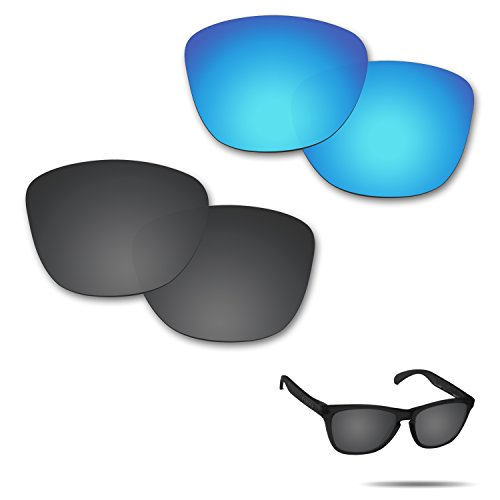 Fiskr Anti-saltwater Polarized Replacement Lenses for Oakley Frogskins Sunglasses 2 Pairs - Skin Frog Sunglasses