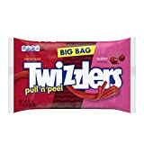 TWIZZLERS Pull 'n' Peel Licorice Candy, Cherry, 28