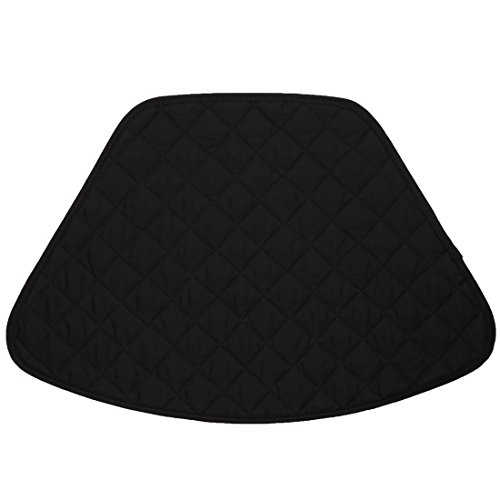 Set of 2 Black Quilted Wedge-Shaped Placemats for Round Tables