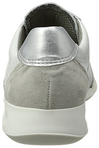 Bianco Donna Rom Sneaker Alto weiss silber Collo Ara kiesel A a7vwYnq