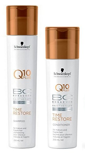 Schwarzkopf Professional BC Bonacure Time Restore Q10 Shampoo 250ml and Conditioner 200ml Duo Pack