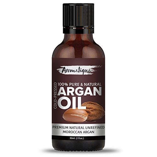 Aromatique Argan Moroccan Cold Pressed 100% Pure And Natural Essential Oil For Face,Skin,And Hair Care 30ml .