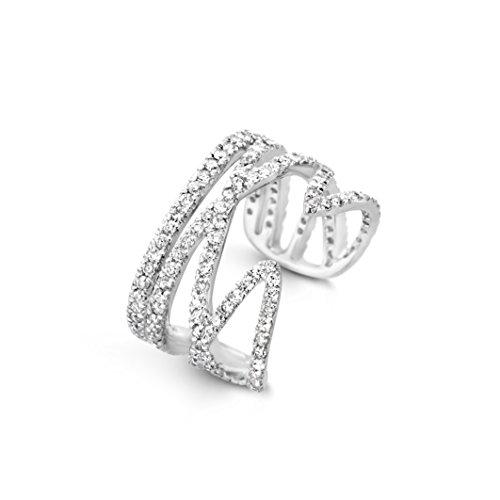 Joelle Jewellery femme    Plaqué or Rond   Blanc Diamant