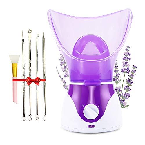 Facial Steamer, Professional Spa Home Face Steamer Sauna Pores Cleanse-BPA Free Warm Mist Moisturizing Humidifier…