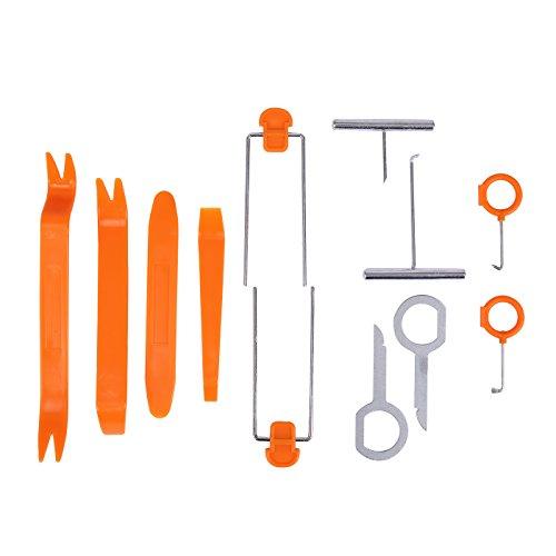 (HDE 12 pcs Auto Pry Tools Kit Door Trim Panel Dash Stereo Radio Interior Light Removal)