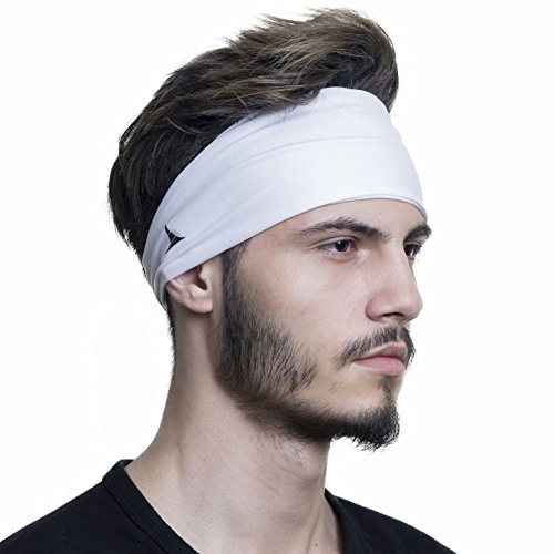 French Fitness Revolution Mens Headband - Guys Sweatband & Sports Headband for Running, Crossfit, Working Out and Dominating Your Competition - Performance Stretch & Moisture Wicking ()