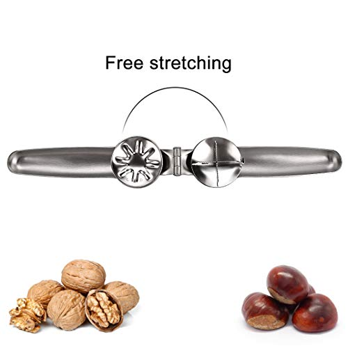 Nutcracker Chestnut Clip, 304 Stainless Steel Walnut Pliers Sheller Opener, Multifunctional Metal Chestnut Opener, Kitchen Utensils Cracker Opener Tools for all Dried Nuts