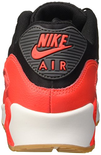 Nike Damen Wmns Air Max 90 Essential Turnschuhe, Nero (Black/Dark Grey-Brght Crmsn-SL), 38 EU