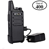 Case of 400, Retevis RT22 Walkie Talkies Rechargeable 16 CH CTCSS/DCS VOX License-free Two Way Radio