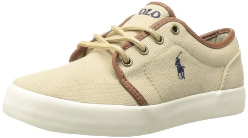 Polo Ralph Lauren Kids Ethan Low Lace-Up Sneaker (Little Kid/Big Kid),Khaki,11.5 M US Little - Polo Outlet Kids