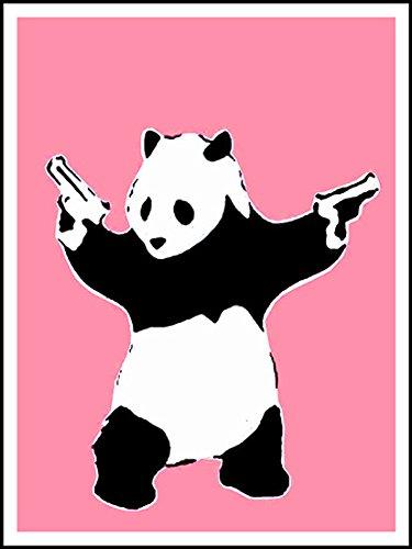 Imagenation Banksy Pink Panda Guns