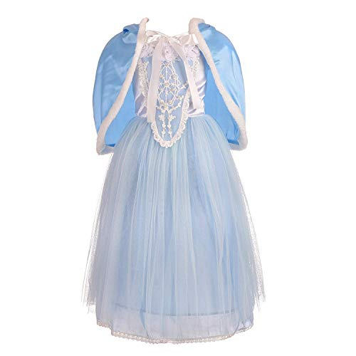F1rst Rate Girls' Beautiful Costumes Dress Up Halloween Party Costumes Dresses(Blue-4T) ()