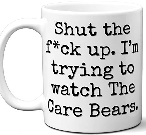 The Care Bears Gift Mug. Funny Parody TV Show Lover Fan