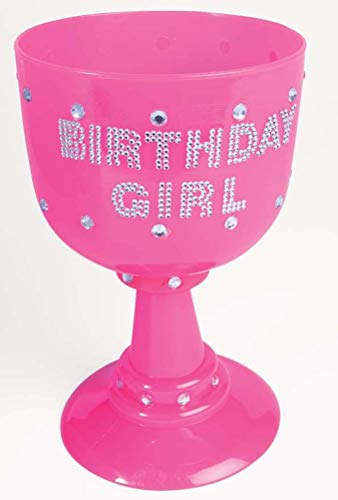 Forum Novelties Jumbo Plastic Pink Goblet, Birthday Girl, One Size