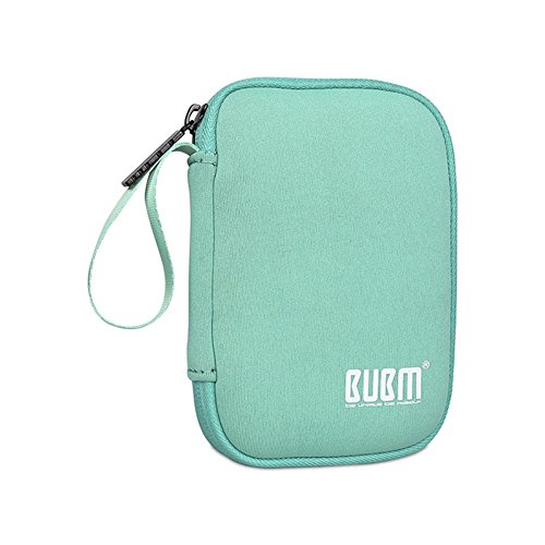 BUBM Enclosure 2.5'' USB 3.0 Hard Drive Bag Power Bank Portable Charge Travel Case, 5.9'', Powder Blue (QYD-S-01) by BUBM