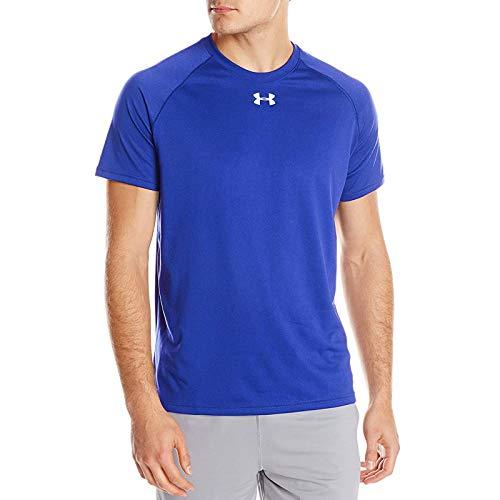 Under Armour Men's Locker Short Sleeve T-Shirt, X-Large, Royal/White