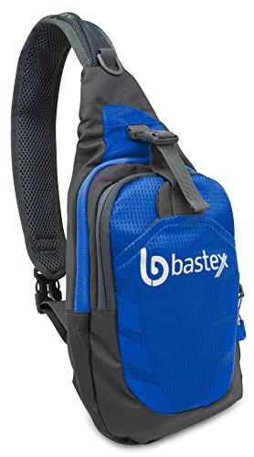 Price comparison product image Bastex On the GO Blue Mid Size Over the Shoulder Mobile Device Accessories Multi-Purpose Utility Bag Mini Backpack Over The Shoulder Sling Pack
