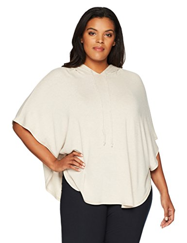 Kailee Athletics Women's Plus Size Active Poncho 1X Creme Brulee (Creme Plus)