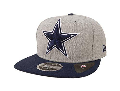 New Era 9Fifty Hat NFL Dallas Cowboys Heather Gray/Blue Grand Snapback Cap