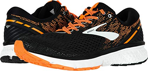 Brooks Men's Ghost 11 Black/Silver/Orange 12 D US