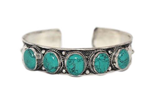 Turquoise Cuff Bracelet, Turquoise Bracelet, Tibetan Bracelet, Nepal Bracelet, Tribal Bracelet