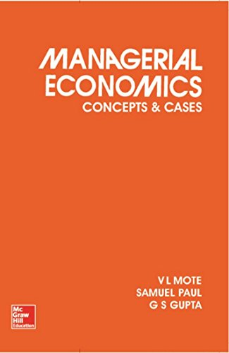Managerial Economics: Concepts and Cases