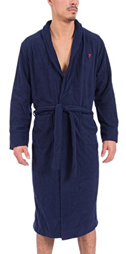pierre-cardin-mens-plush-mirco-polar-fleece-bathrobe-navy-l-xl