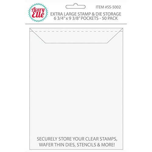 Avery Elle Stamp & Die Storage Pockets 50/Pkg-Extra Large (Pocket Folder Die)