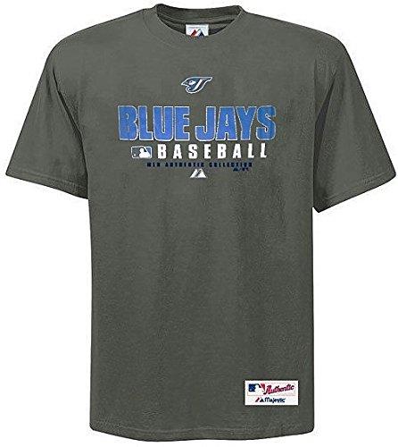 Toronto Blue Shirts - Majestic Toronto Blue Jays MLB Practice T Shirt Men's Gray Big & Tall Sizes (4XL)