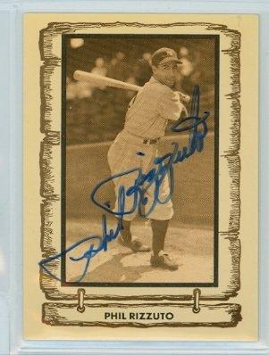 Phil Rizzuto AUTOGRAPH d.07 1980-83 Cramer Baseball Legends New York Yankees