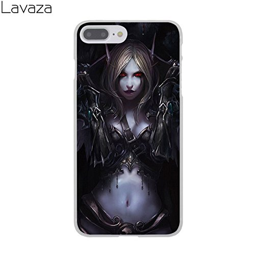 C.N. Black Purple Sylvanas Windrunner iPhone 8 Case Wow World of Warcraft Theme I Phone 7 Cover Banshee Queen Dark Lady Wow Alliance Vs Horde Battle for Azeroth PVP MMO Computer Game, Hard Plastic