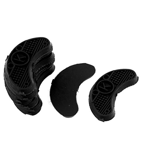 uxcell Nonslip Rubber Shoes Heels Sole Guard Plates Taps 10Pcs Black (Best Point Guard Shoes)