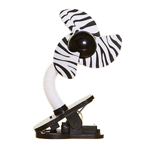 Tee-Zed Clip-On Fan Great for the Beach, Pool, Camping, Work, Lounging or Just Chillin'! - Zebra Print by Dreambaby