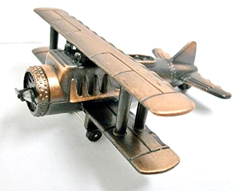 Bi-Plane Die Cast Metal Collectible Pencil Sharpener