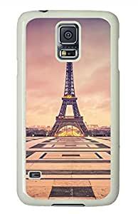 Eiffel Tower 10 White Hard Case Cover Skin For Samsung Galaxy S5 I9600