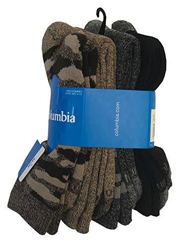 Moisture Control Ribbed Crew Mi-Chaussettes Socks (One size, Brown/khaki/Charcoal/Black) ()