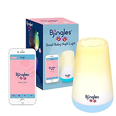 Bjingles Baby Night Light, Sound Machine, White Noise, Sleep App, Plays Fun Jingles, Schedules Baby Activities.